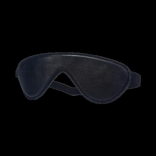 Devil Sticks - bőr szemtakaró (fekete) - minőségi szemtakaró BDSM játékokhoz