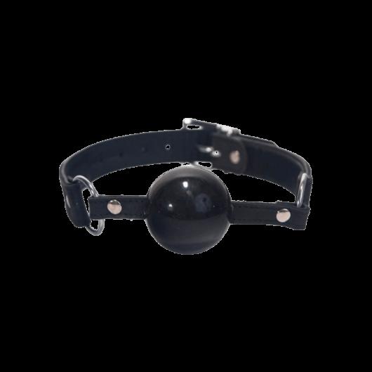 Silicone Ball Gag Black - bizalmi játékok fetish kelléke