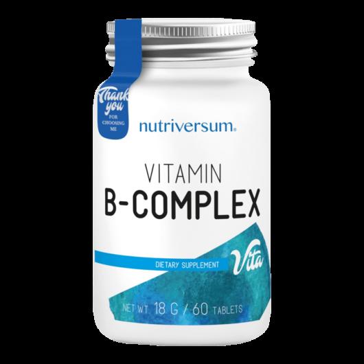 B-Complex - 60 tabletta - VITA - Nutriversum - hozzáadott biotinnal