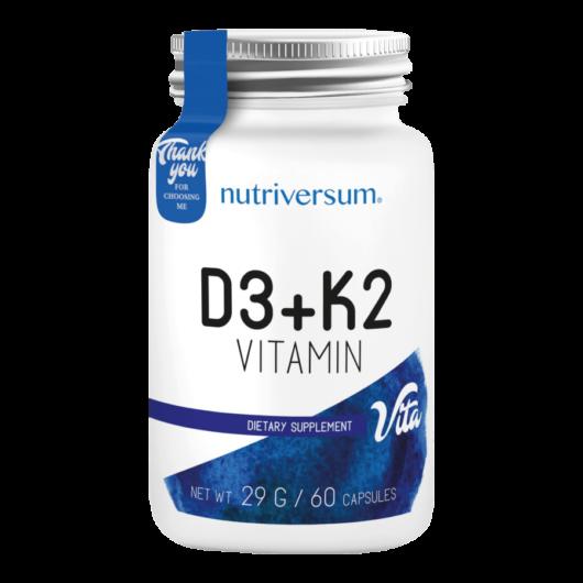 D3+K2 - 60 kapszula - VITA - Nutriversum -